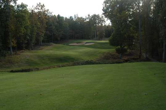 A view of green #6 at Coweta Club from Arbor Springs Plantation