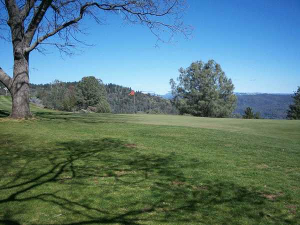 A view of a green at Forest Meadows Golf Course