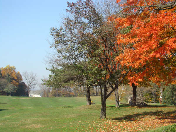 A fall view from Arrowhead Golf Course