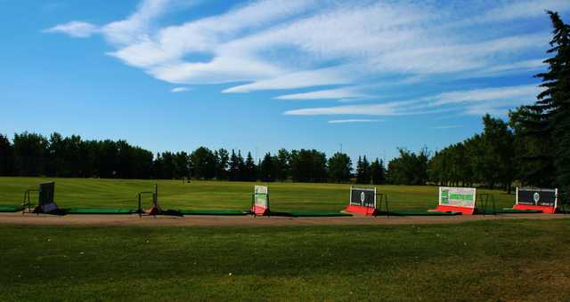 A view of the driving range at Inglewood Golf and Curling Club