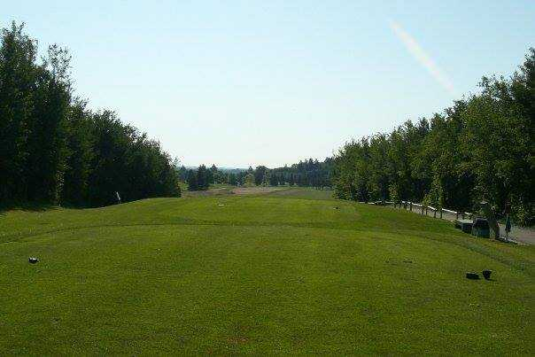 A view from a tee at Raven Crest Golf and Country Club