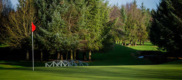 A view of a hole at Castle Hume Golf Club.