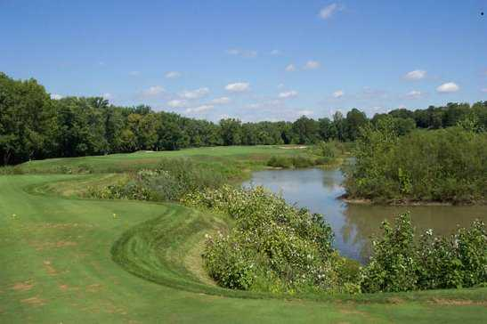 A view from the 2nd tee at Cooks Creek Golf Club