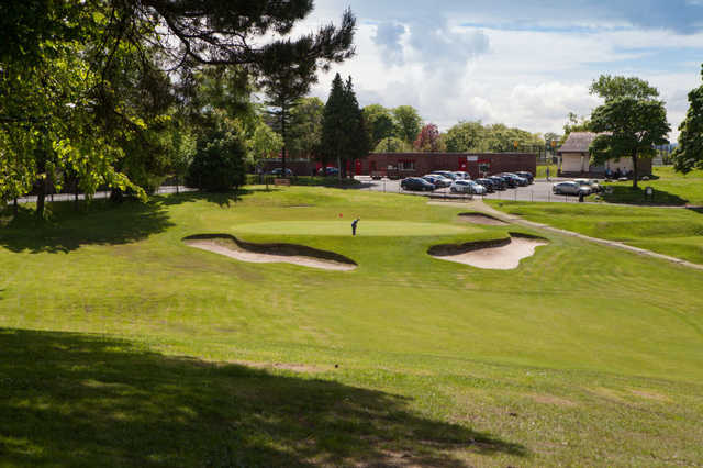 A view of the 18th green at Dalmuir Municipal Golf Course