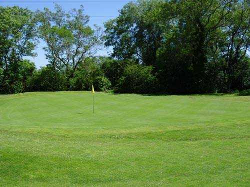 A view of a green at Glen Mill Golf Club