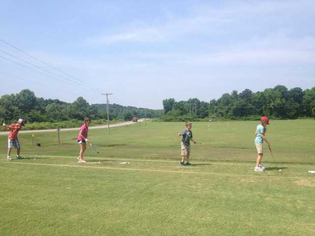 A view of the practice area at Crowley's Ridge Country Club