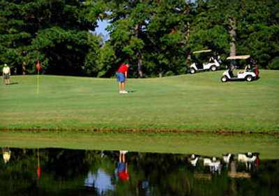 A view over the water from DeGray Lake Golf Course