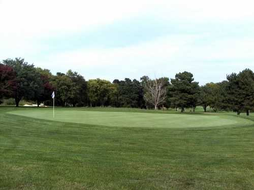 A view of the 3rd green at Wildwood Golf Course