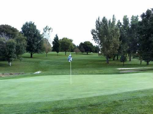 A view of hole #1 at Wildwood Golf Course