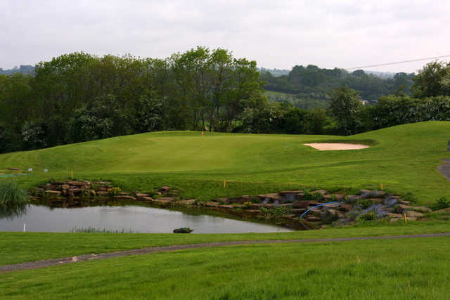 A view of the 3rd green at Deer Run Course from Grove Golf & Bowl