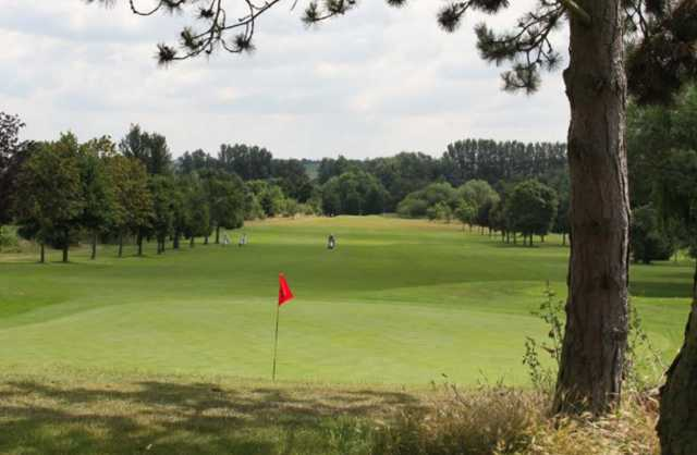 A view of a green at Cheshunt Park Golf Centre