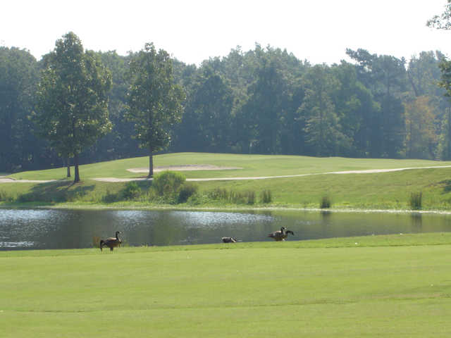 A view over the water from Country Club of Arkansas