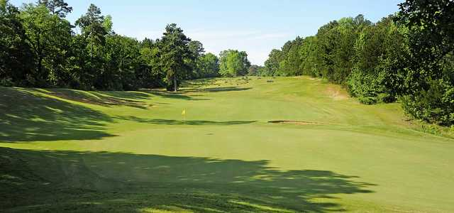 A view of a green at Pine Dunes Resort and Golf Club