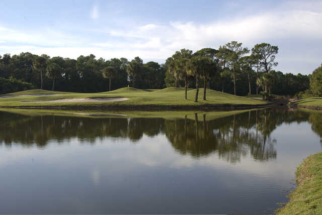 A view over the water from Indigo Lakes Golf Club