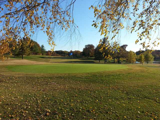 A fall view of a green at Cape Jaycee Municipal Golf Course