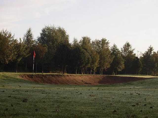 A deep greenside bunker at Brierley Forest Golf Club