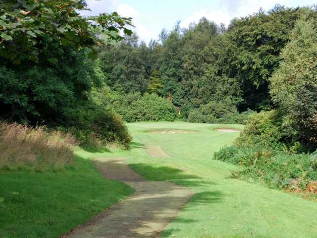 One of the tough par-3's on the Cawder Course