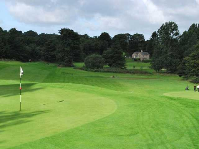 A look back from the green on the Keir Course
