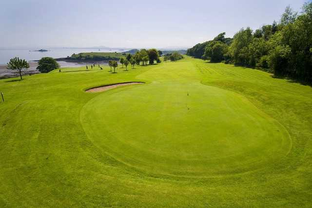 The large 9th green at Aberdour