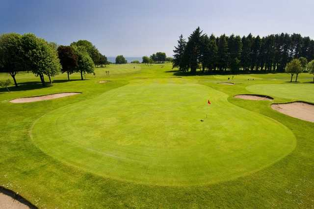 The expansive but well-guarded 12th green at Aberdour GC