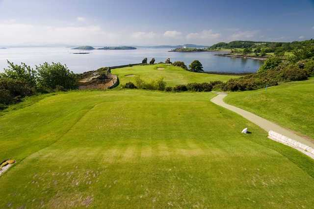 A view from the 1st tee at Aberdour Golf Clu