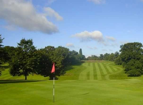 View back up the stretching fairway at Stourbridge