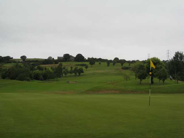 A scenic View of the 17th green at Harwood Golf Club
