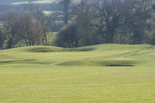 View of the approach to the well bunkered 17th from Nazeing Golf Club