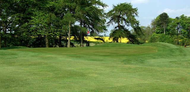 One of the USGA-standard greens on the course at the Headlam Hall Hotel Spa and Golf