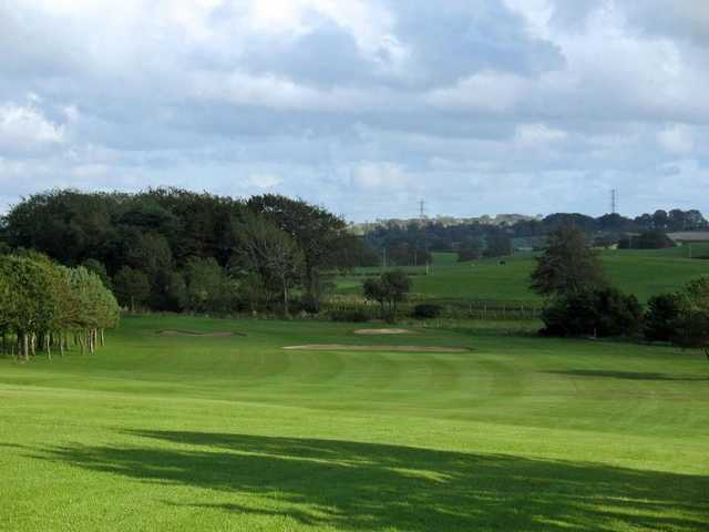 Stretching view down the long par 5 6th at Langlands Golf Club