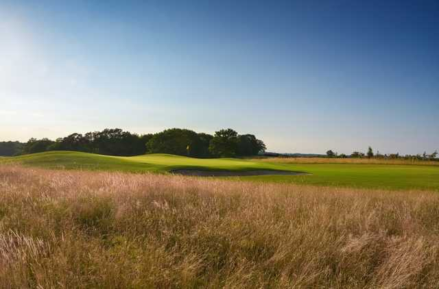 View over the rough of the stunning 12th hole at Chippenham Golf Club