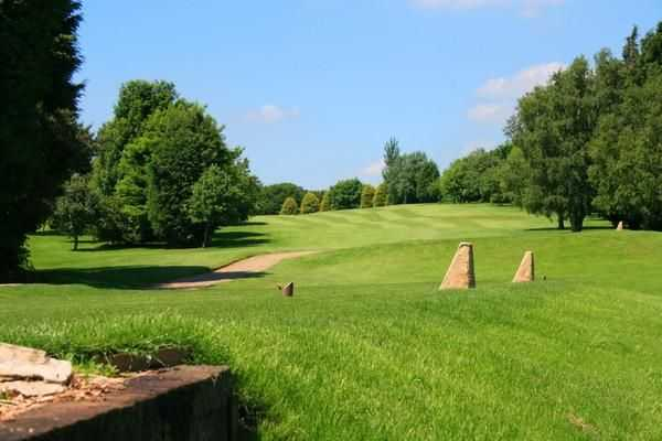 View of the hole from behind the tee at Louth Golf Course