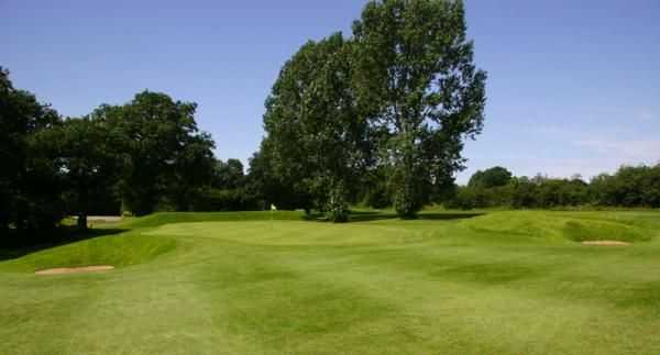 The 12th green approach and surrounds at Helsby Golf Course