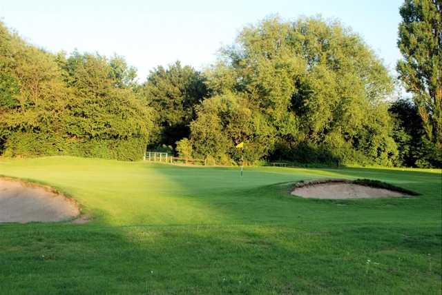 The bunker guarded 1st green at Sinfin