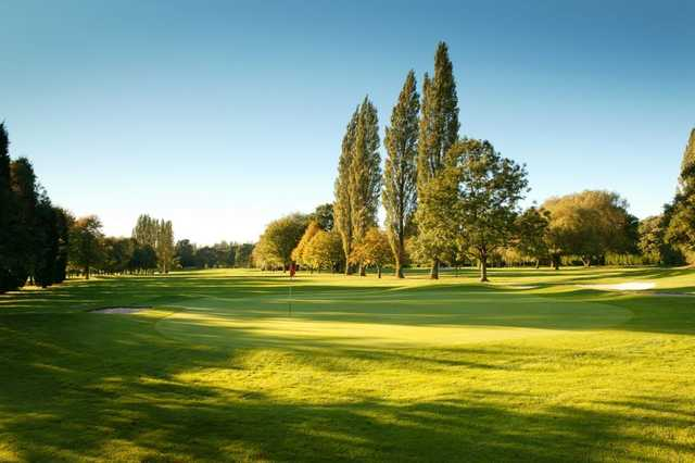 The forgiving wide fairways leading to the 11th green at Walsall Golf Club