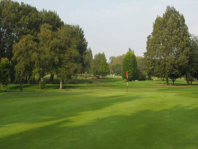 Scenic view of the 12th green at Walsall Golf Club