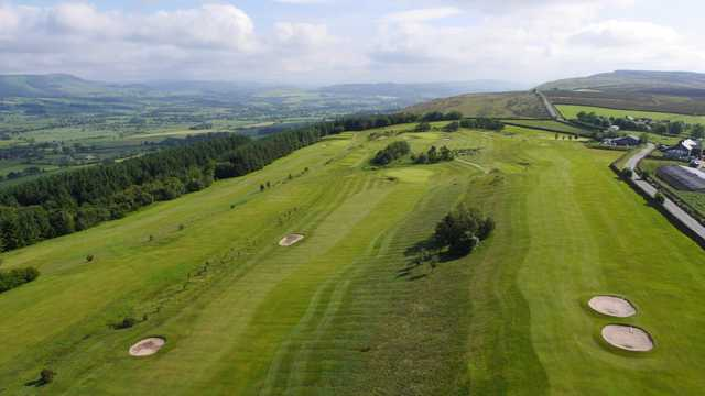 Stunning view of the course, coutyside and hills at Longridge Golf Club