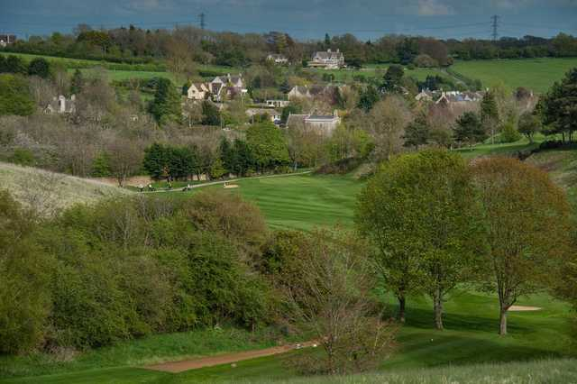 An overhead shot of Cirencester Golf Course and its surrounding views