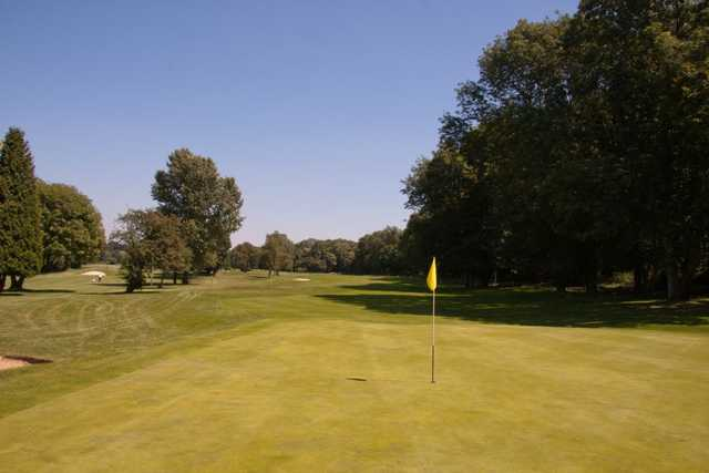 Tree lined fairways on the 16th hole on the Hurricane course at West Malling