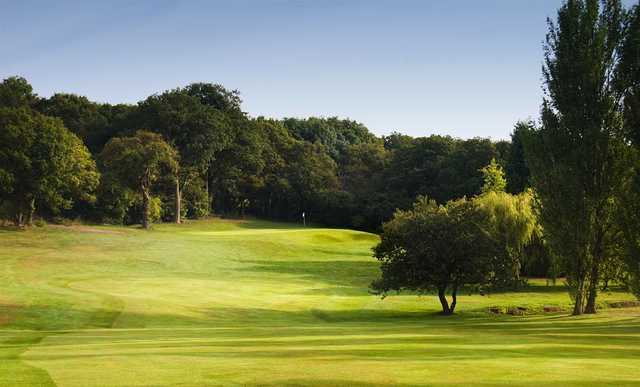 The undulating fairway leading to the 6th at Shooters Hill
