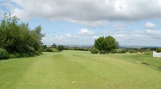 Looking down the 17th fairway at Farnworth