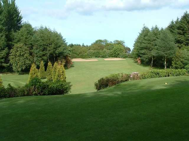 A bunker lined green at the Lisburn Golf Course