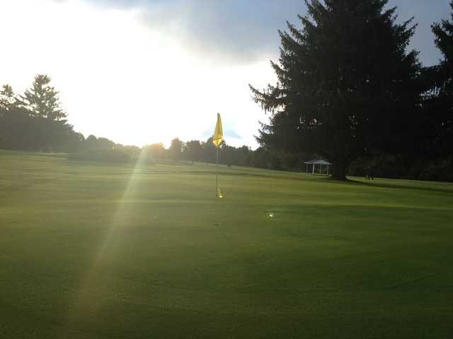 View of a green at Deme Acres Golf Course