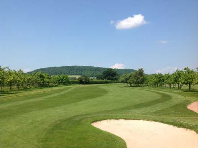 Sand to avoid on the 13th at Burghill Valley Golf Club