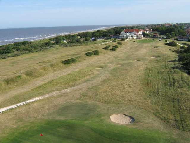 Aerial view of the 18th hole at North Shore Golf Club