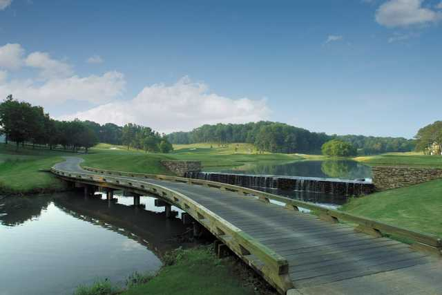 View from the 5th tee box at Woodmont Golf & Country Club