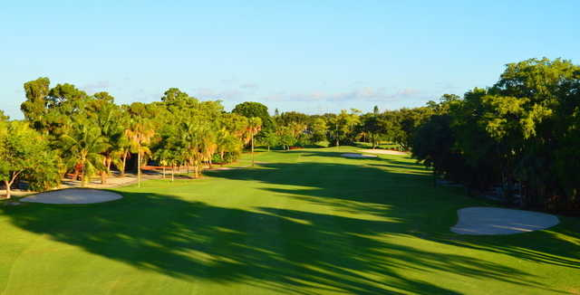 View from the fairway of the 5th hole at Village Golf Course.