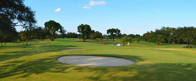 View of the 9th hole at Village Golf Course.
