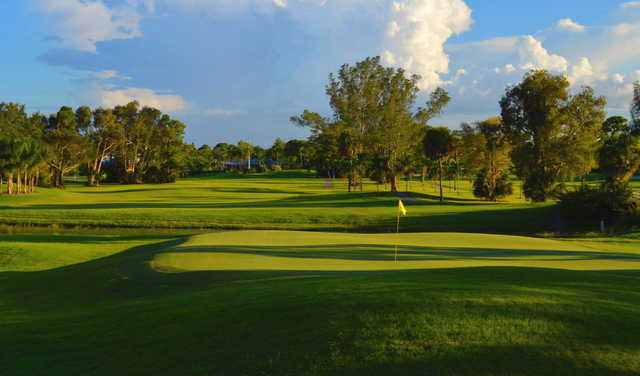 Looking back from the 16th green at Village Golf Course