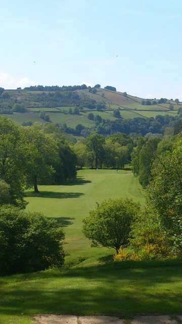 Fantastic look down the 12th hole from Keighley Golf Club